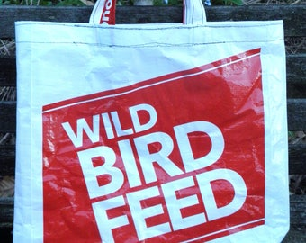 NEW LOW PRICE, X-small Wild Bird Seed,  Recycled Repurposed  Upcycled Tote Bag