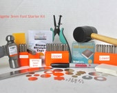Metal Stamping Kit-Beginners Stamping Kit-Bridgette Impressart Font Set-Includes-Letter Sets Upper and Lower/Numbers