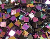 Black Opal Luminescent Stained Glass Mosaic Tiles