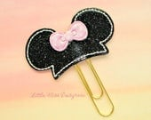 Mouse Ears Glitter Planner Clip Paperclip