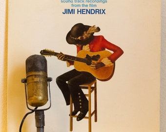 "ON SALE Vinyl Record Album Jimi Hendrix ""Soundtrack from the Film Jimi Hendrix"" (Original 1973 Gatefold 2LP Wb Records with ""Red House"")"