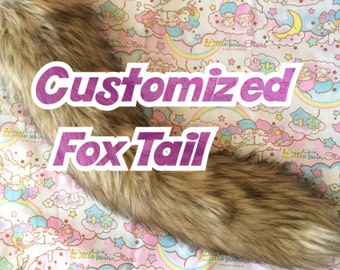 Made to Order Customizable Fox Tail / Pet play / Faux Fur