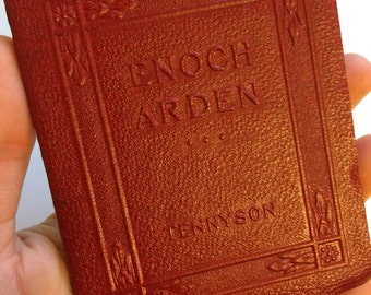 ENOCH ARDEN and other poems by Alfred Lord Tennyson Miniature Book Little Leather Library 1920s Antique Vintage