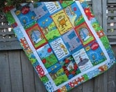 The Lorax Baby Quilt Organic Cotton Bright Tones