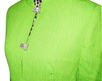 Vintage 1960s Emma Domb Chartreuse Duster Coat