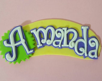 Fondant Shopkins Name Logo