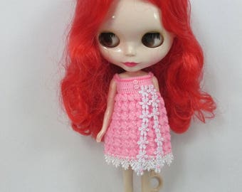 Handcrafted crochet knitting dress outfit clothes for Blythe doll # 200-10