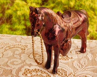 Vintage Metal Horse with Copper Finish