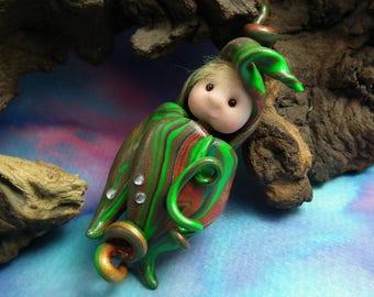 Seed-Podling Baby Elf 'Alish' Crib Infant Bundle Swaddle OOAK Sculpt by Sculpture Artist Ann Galvin