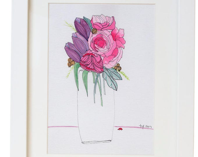 Floral Watercolor Print/Poster