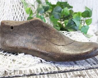 Wood Shoe Form, Cobblers Shoe, Adult Wood Vintage Shoe Last