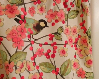 NEW Window Curtain-Valance Waverly Bird Blossoms Window Curtain