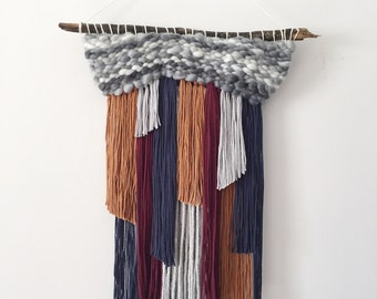 Colorful Woven Wall Hanging / Tapestry Weaving