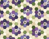 Arabella Debbie Beaves Natural Hexigons Quilt Fabric by the 1/2 yard