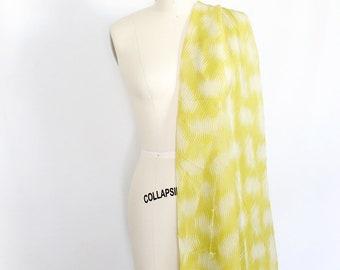 Lime green chiffon, pantone greenery fabric, sheer fabric, green and grey printed chiffon, silk chiffon, dress fabric, dress making material