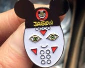 Friday the 13th Enamel Pin Jason Voorhees Pin Friday the 13th Pin Jason Mask Disney Enamel Pin Walt Disney World Jason Voorhees Mickey Ears
