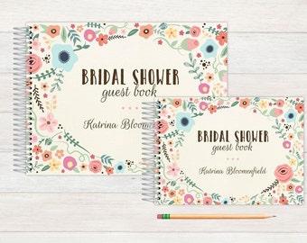 Bridal Shower Guest Book, Bridal Shower Guestbook, Bridal, Custom GuestBook, Personalized GuestBook, Bridal Shower Registry Book, garden