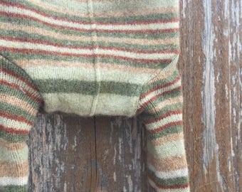 Handmade Upcycled Wool Soaker, Longies - Small
