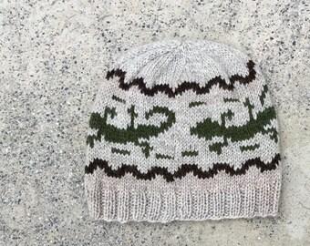 Wool Hat: Walking Gecko