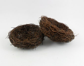2 Twig Bird Nests 4""