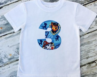 Boy's Paw Patrol 3rd Birthday Shirt Size 3T