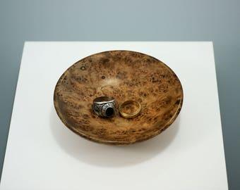 Maple Burl Ring Dish, B2818