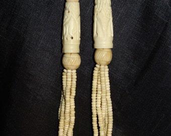 Vintage Hand Carved African Tribal Necklace