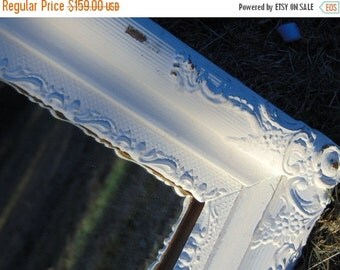 ON SALE Antique Mirror, Ornate Mirror, Wall Mirror, White Mirror, Nursery Mirror, Farmhouse Mirror, Buy in White or choose color