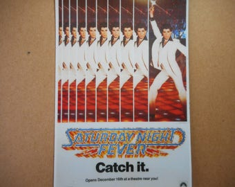 Magnet- Saturday Night Fever movie poster John Travolta dance