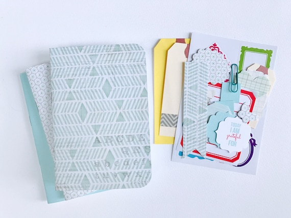 Tribal Triangle Turquoise Mint Planner Inserts . Set of 3 . Field Notes Pocket Micro A6 A5 Micro Tiny TN Passport Travelers Notebook Midori