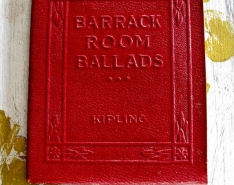 "Antique Red Little Leather Small Book Barrack Room Ballads KIPLING Classic Literature New York Little Leather Library Corporation 1920""s"