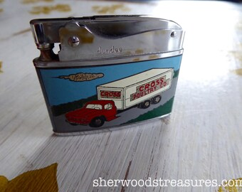 Vintage Promo Lighter With Box Cross Poultry Co.  Collectible  1950's Truck Dundee Automatic Superlighter  Japan