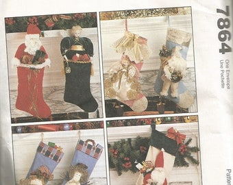McCall's 7864 Christmas Stocking Pattern   CLEARANCE ITEM