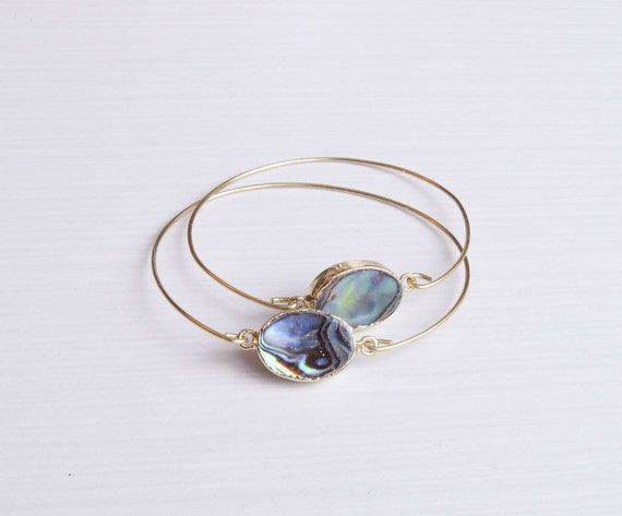 Abalone Shell Bangle Bracelet