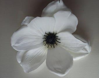 White Magnolia - fascinator/hair accessory/hat trim/races/bridal/trim