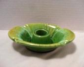 Haeger Vintage Drip Glaze Art Pottery Candle Stick Holder #3004 Green Candleholder