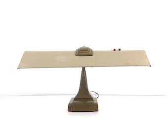 Art Deco Desk Lamp / Industrial Task Lighting / Vintage Office Decor