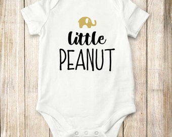 Elephant, Onesie, Little, peanut, onesie, Baby Clothes, bodysuit, children, tops