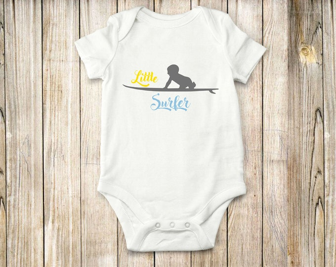 Little Surfer, onesie, bodysuit, children clothing, baby clothing, shirt