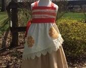 Girls Moana dress, Bleu Bird Designs Princess Moana dress, inspired by Disney's Moana in sizes 18mons, 2T-8girls, 9-12