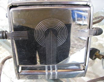 Vintage Westinghouse Griller Type Toaster Chrome Art Deco Kitchen Appliance