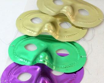 metallic masks, mardi gras, costume ball, masquerade