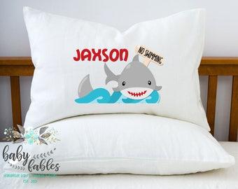 Personalized Shark Pillowcase, Shark Pillow, kids Pillowcase, Child's Pillowcase, Boy Room Decor, Shark Pillow case, Boy Birthday Gift