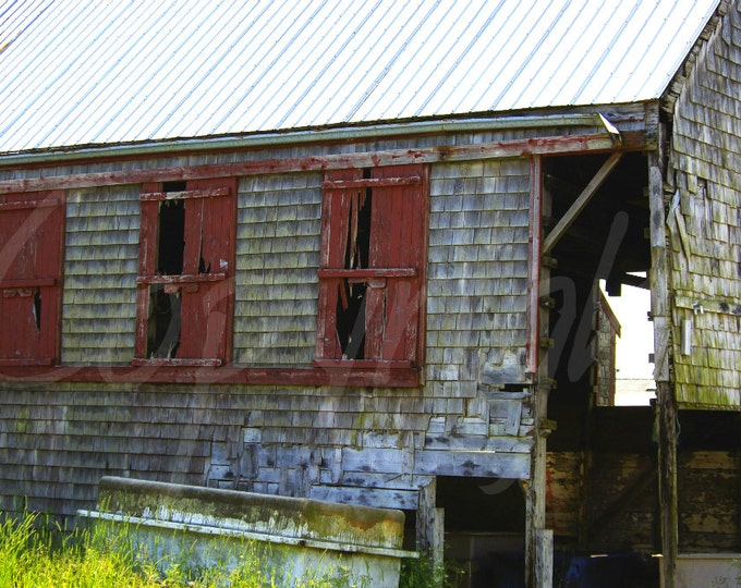 Abandoned, Nautical, Rustic, Print, Photograph or Greeting Card, 4x6, 5x7, 8x10, Blank Card, Photography, Gift Idea, Wall Art