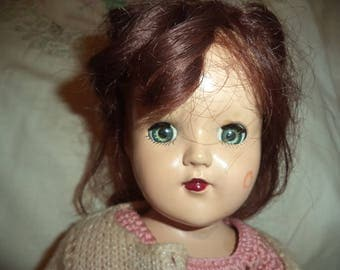 Hard Plastic P-90 Ideal Toni Vintage Doll