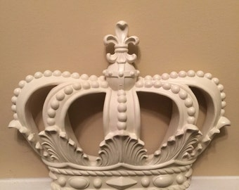 Crown/Wall Decor/ Shabby Chic Decor/ Home and Garden Decor/Off-White Crown Decor/ Bedroom Decor