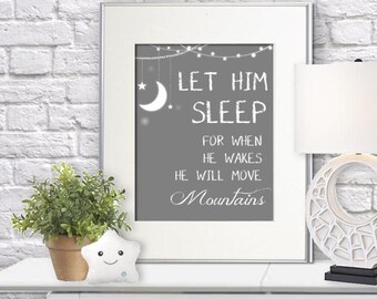 INSTANT DOWNLOAD Let HIM Sleep Wall Art 8x10 & 8x11