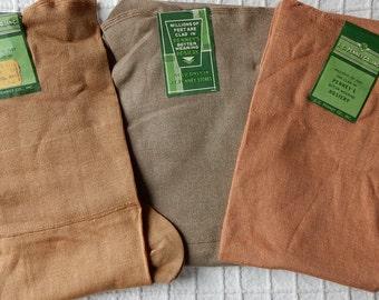 3 pair New Old Stock 100% Cotton Stockings Hosiery Size 10 NOS  Lot 2  OJ2