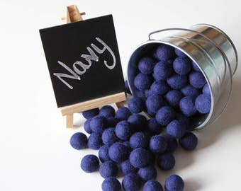 Felt Balls- Navy Blue- 20mm-Pk of 20