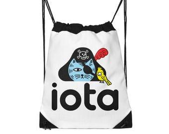 iOTA Pirate Kitty - Drawstring Bag - School Bag - Childrens Bag - Kids Bag